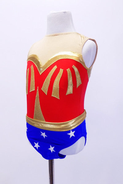 Wonder Woman Themed Child Dance Costume, For Sale  Once -9071