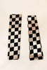 Matching  black & silver checkered legwarmer/socks