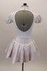 White pouf sleeved nurse's dress had red petticoat & attached pinafore with large red cross on the front. Comes with matching nurse hat. Back