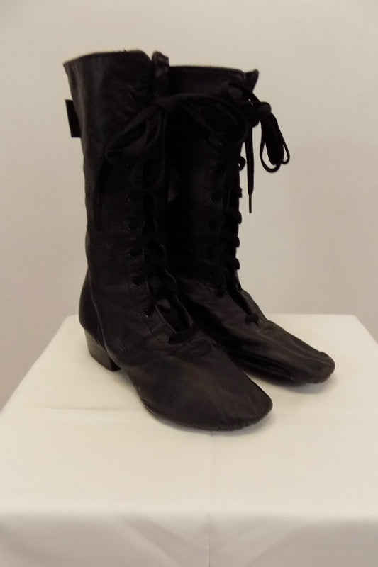 Jazz Boot, Sansha Black leather Soho High Boot Size 7.5. Side