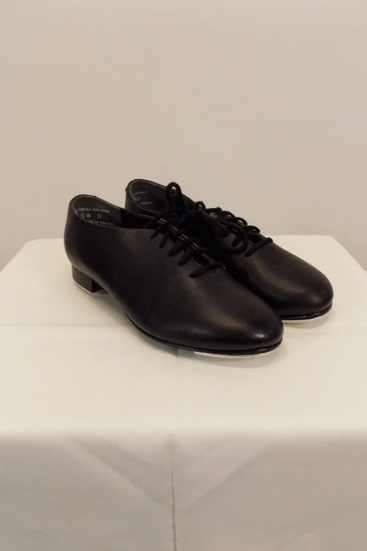 Tap Shoe Capezio Black Hard Sole Lace-Up Style 442B Size 3.5M