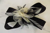 Black and ivory bow hair accessory