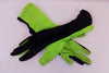 Black and green gloves