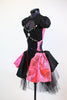 jazz or tap costume black / pink  side