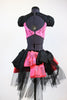 jazz or tap costume black / pink  back