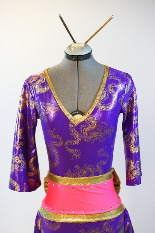 jazz costume, for sale purple front