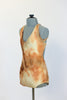 Caramel/brown/cream tie-dye fully lined bodysuit. Side