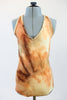 Caramel/brown/cream tie-dye fully lined bodysuit. zoom front