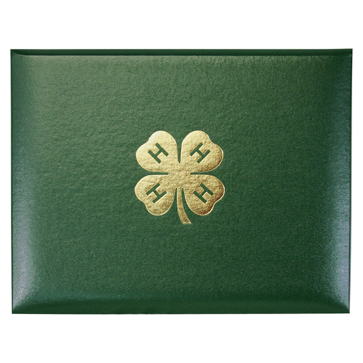 4-H Certificate Cover