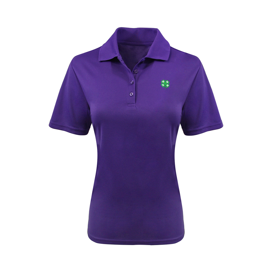 4-H Women's Purple Dry Fit Polo