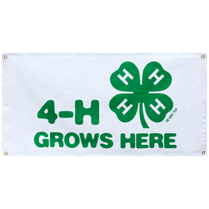 4-H Grows Here 2' x 4' Banner