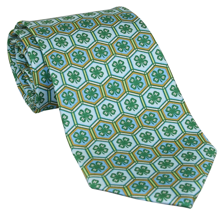 Patterned Design Silk Tie