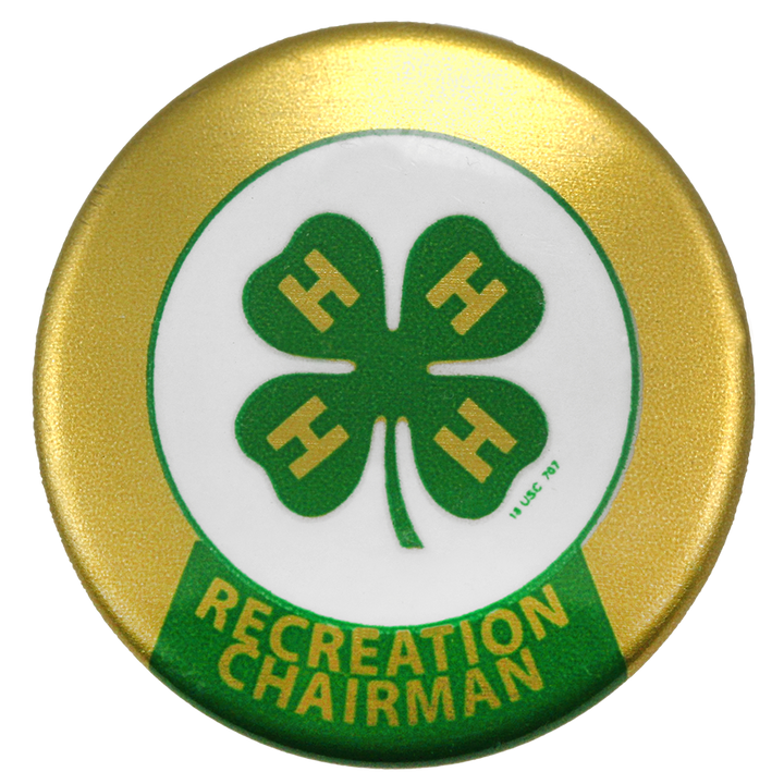 Recreation Chairman Button