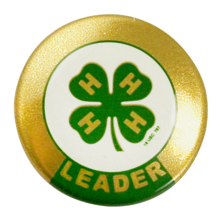 4-H Leader Button