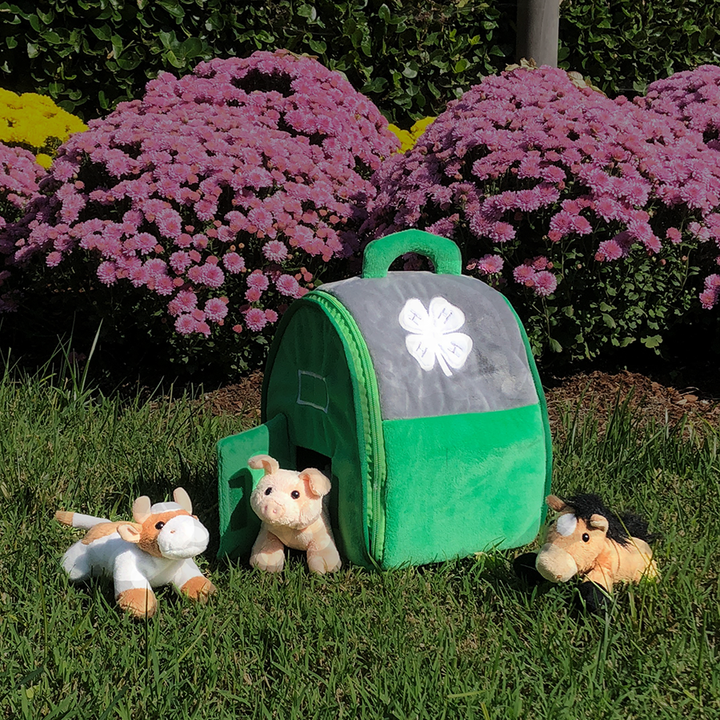 4-H Custom Plush Barn Tote & Animals