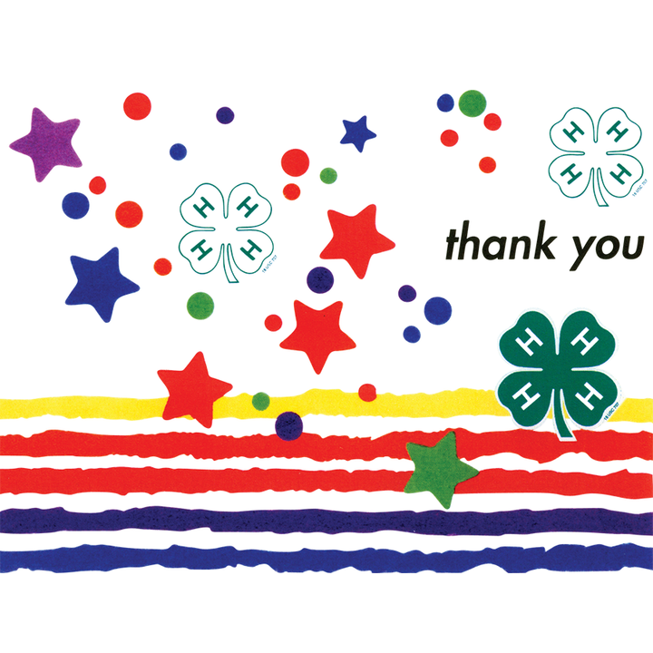 4-H Thank You Stars Notecards (20 count)