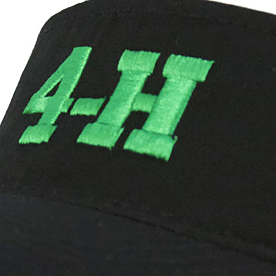 4-H Black Visor with Velcro Strap