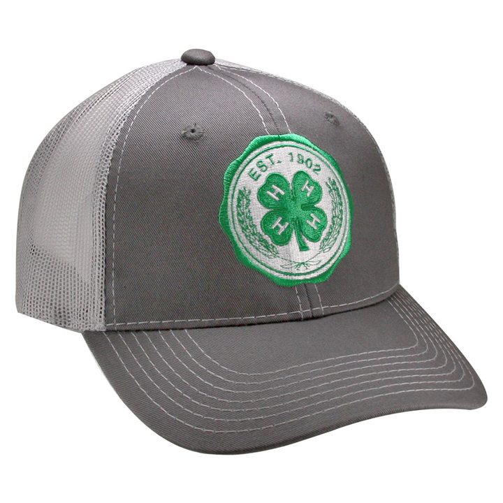 Grey 4-H Seal Cap