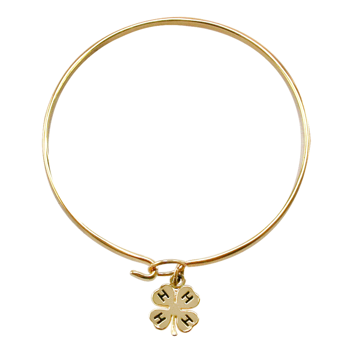 Gold Plated Clover Bangle
