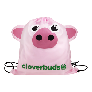 Cloverbuds Pig Cinch Bag