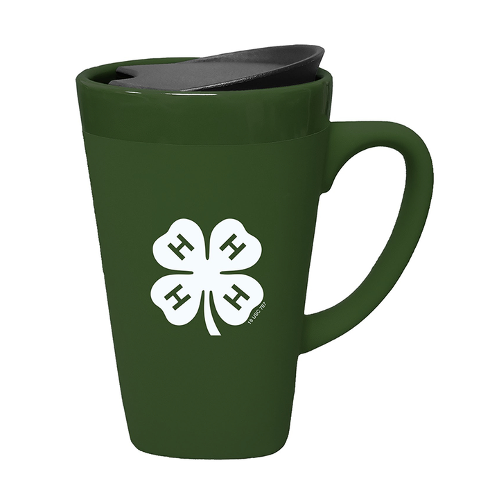 4-H Soft Touch Ceramic Mug W/ Lid