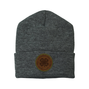 Grey Beanie with Logo Patch
