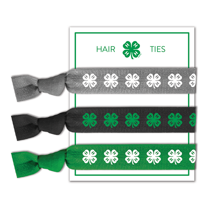 4-H Hair Ties Set of 3