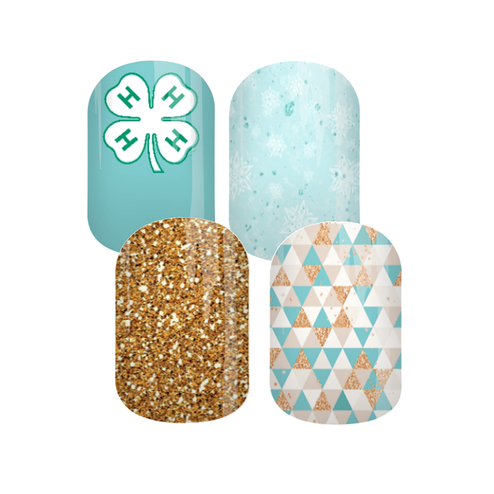 Blue Snow 4-H Nail Wraps