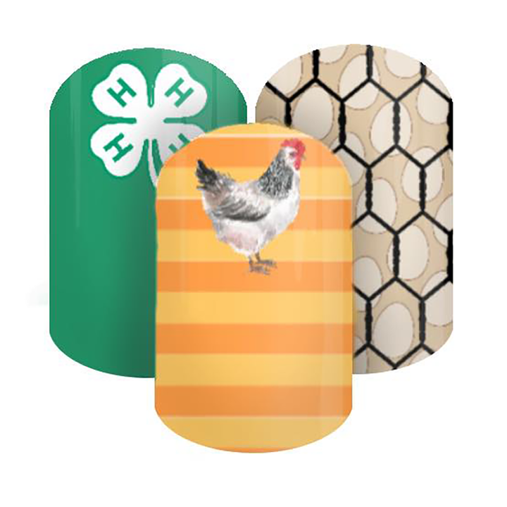 Chicken 4-H Nail Wraps