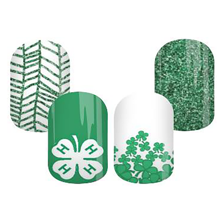 4-H Themed Nail Wraps