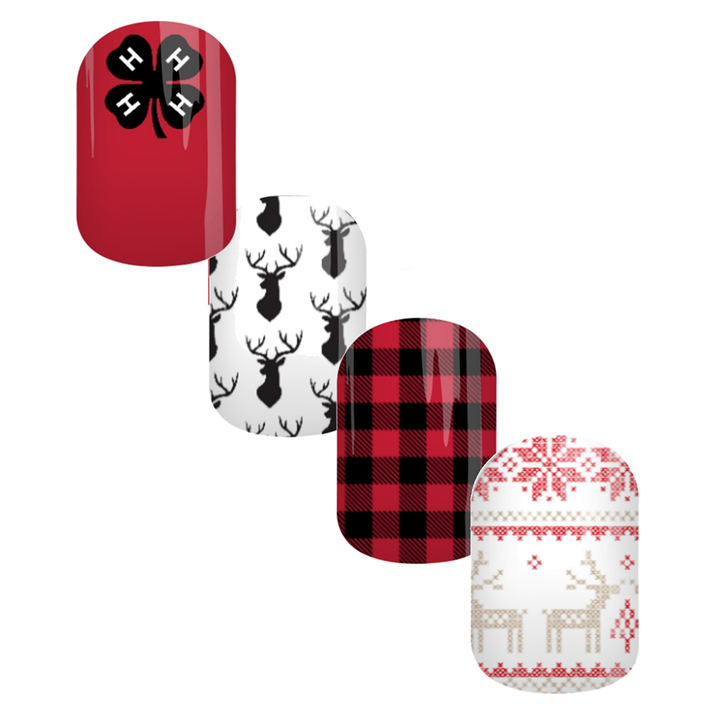 Red Flannel 4-H Nail Wraps