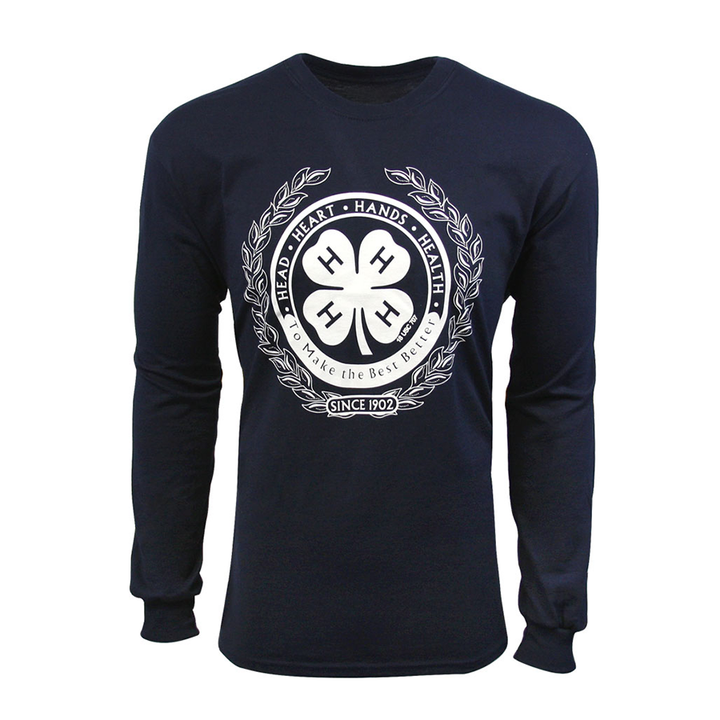 4-H Navy Long Sleeved Tee