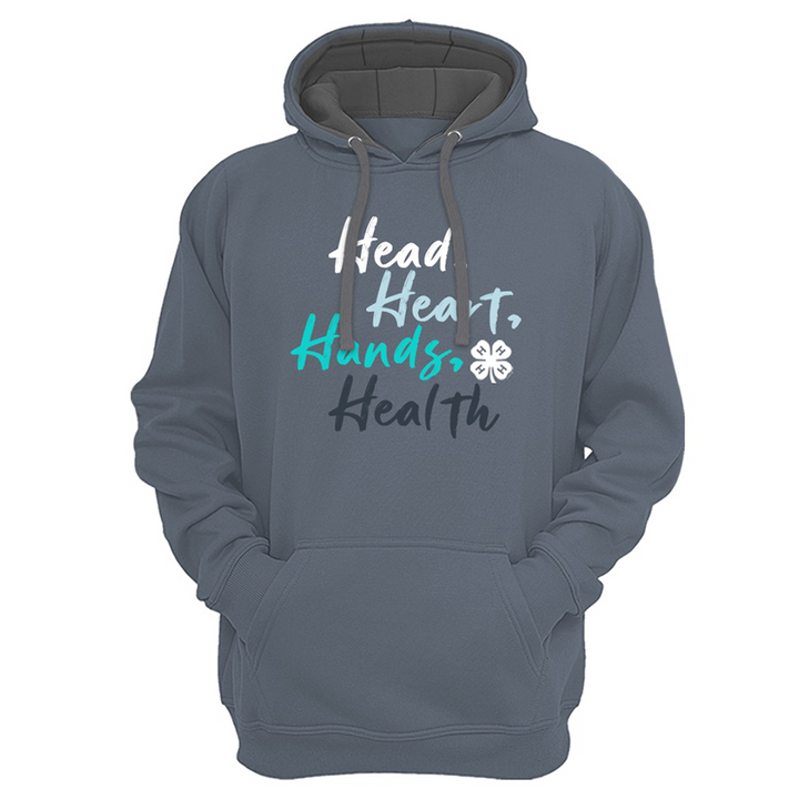 4-H Pledge Blue Text Hoodie