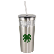 4-H Bling Tumbler with Straw - 16oz