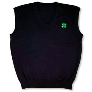 4-H Mens Navy Sweater Vest