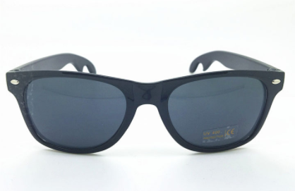 Bottle Opener Sunglasses - Black