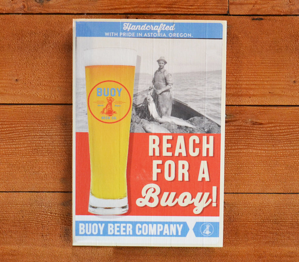 Buoy Lager Wood Sign