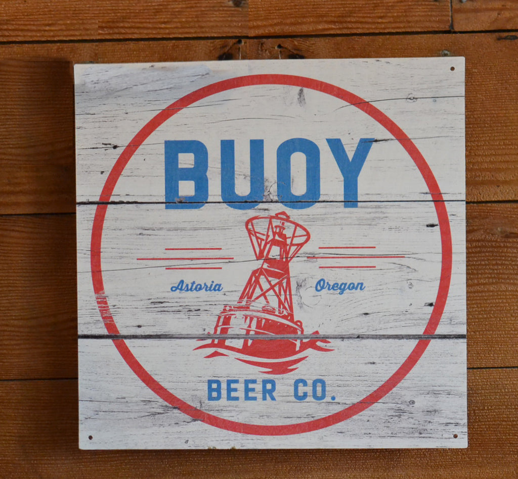 Buoy Logo Wood Sign