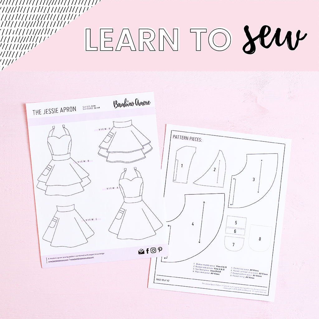 Learn to Sew a Retro Woman's Apron with BambinoAmore