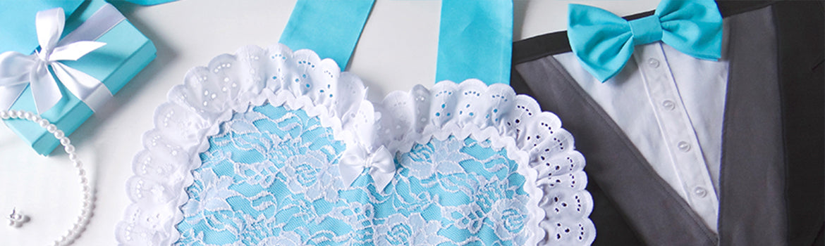 Wedding Apron Collection from Bambino Amore - the apron makers