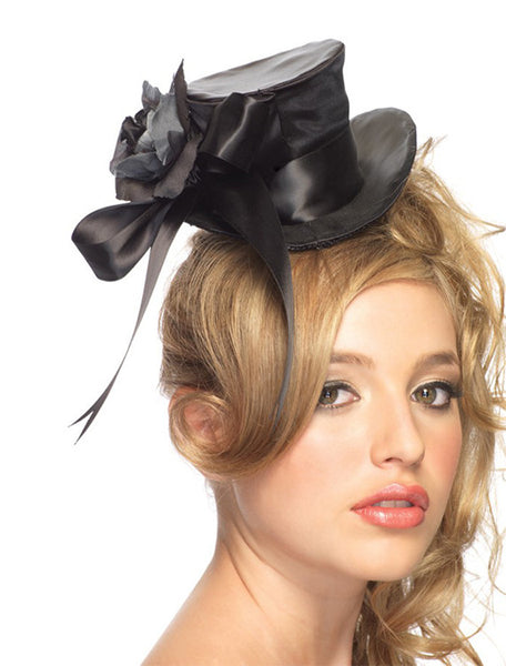 Accessorize Your Bambino Amore Tuxedo Apron with this Satin Top Hat from Leg Avenue