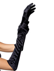 Accessorize Your Bambino Amore Costume Aprons with these Long Satin Gloves with Snap Detailing from Leg Avenue