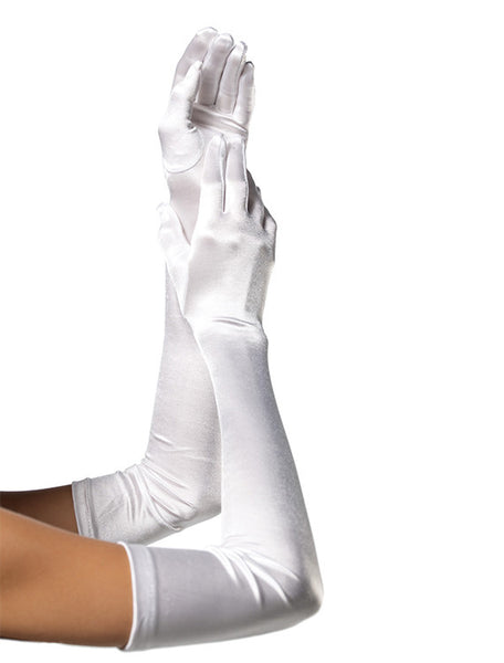 Accessorize Your Bambino Amore Princess Apron with these Extra Long Satin White Gloves from Leg Avenue