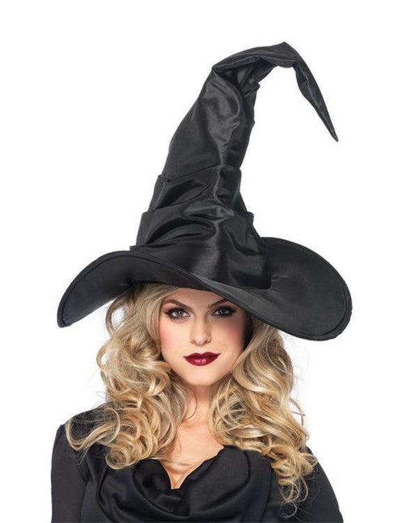 Accessorize Your Bambino Amore Apron with this Large Ruched Black Witch Hat by Leg Avenue