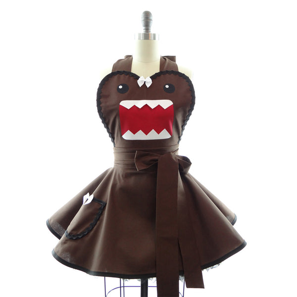 Brown Monster Manga Apron