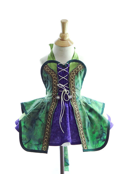 Hocus Pocus Green Witch Children's Costume Apron by Bambino Amore