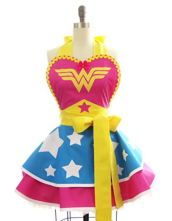 Hot Pink Wonder Woman Apron