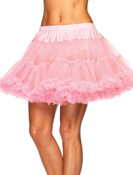 Accessorize Your Bambino Amore Apron with this layered Tulle Petticoat in Light Pink from Leg Avenue