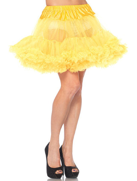 Accessorize Your Bambino Amore Apron with this Yellow Layered Tulle Petticoat from Leg Avenue