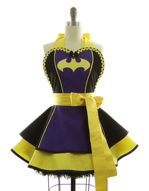 Purple Batty Girl Apron